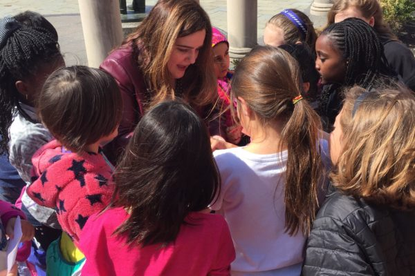 Delegate Ariana Kelly with Girls